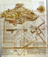 Napoli, mappa pre-catastale dei quartieri spagnoli (da T. Colletta La cartografia…,1985).