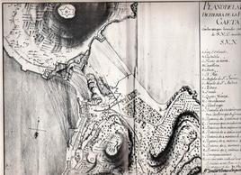 Gaeta. Il rafforzamento della piazzaforte ai primi del Settecento nelle carte dell'Archivio di Stato di Napoli (da T. Colletta, Piazzeforti di Napoli e Sicilia, Napoli 1981).