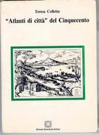 Copertina del volume di T. Colletta, Atlanti di città del Cinquecento del 1984.