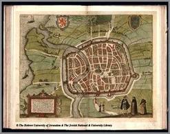 Haarlem. Pianta prospettica  tratta dal Theatrum Urbium praecipuarum mundi di G. Braun, F. Hogenberg, Anversa, 1578-1618.