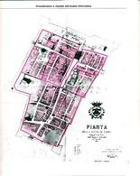 """Pianta di Carpi al 1472 sulla base informatica catastale (da """"Storia della città"""" 1983)."""