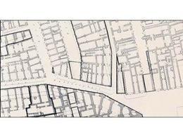"""Napoli .  Particolare di Rilievo catastale particellare 1:200  del 1889 per i """"Quartieri bassi""""  (da T. Colletta, Napoli città portuale e mercantile…,2006)."""