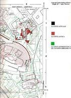 Carta del centro storico di Roma, Foglio 49. Particolare dell'area con il Teatro di Marcello a cura di E. Guidoni. La città attuale in nero, la città antica in rosso, la città ottocentesca dal catasto gregoriano in verde.