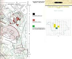 Carta del centro storico di Roma, Foglio 49. Particolare dell'area con il Teatro di Marcello. Copertina  dell'opuscolo e particolare della pianta.