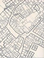 """Particolare di uno dei 140 fogli  della pianta  del 1889  del """"Risanamento di Napoli"""" in scala 1:200, da noi informatizzati in una unica planimetria. (da T. Colletta, Napoli città portuale…, 2006)."""