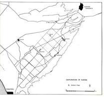 Restituzione della centuriazione del territorio di Sesssa Aurunca (da T. Colletta, La struttura antica del territorio di Sessa Aurunca ed il Ponte Ronaco, Napoli, ESI, 1989).
