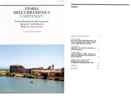 """Copertina ed Indice  del volume V della Rivista """"Storia dell'Urbanistica/Campania""""."""