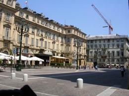 Torino. La piazza pubblica ristrutturata nel XVIII secolo (foto dell'a. 2005).