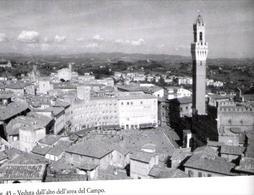 """Siena, La piazza del Campo in una veduta aerea. La principale piazza civile della città medievale. È visibile la famosa e riconoscibile forma urbana """"a ventaglio"""", usasta  per le corse dei cavalli: il gioco del  Palio."""