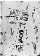 Napoli. Schizzo planimetrico di archivio del Largo di Palazzo e dei tre conventi religiosi (da T. Colletta, Piazza Plebiscito …, 2005).