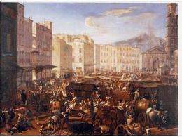 Napoli la piazza mercato nei giorni della peste nell'iconografia seicentesca (da T. Colletta, Napoli città portuale e mercantile…, 2006).