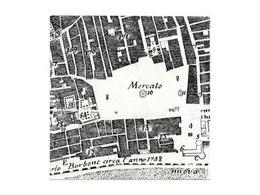 Napoli. Particolare della pianta Carafa con la piazza del mercato e le fontane in piazza (da T. Colletta, Napoli città portuale …, 2006).
