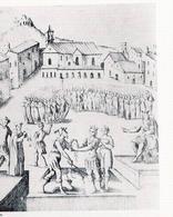 Lo spazio pubblico del campo Moricino e la decapitazione di Corradino (da T. Colletta, Napoli città portuale e mercantile…, 2006).