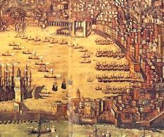 Genova città portuale medievale in un particolare della veduta urbana di rappresentazione della città nel Seicento. (da T. Colletta, Napoli città portuale e mercantile….,2006).