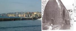 Napoli. Il molo San Vincenzo dal mare ed in una foto antica (da T.Colletta, La riqualificazione…, 2008)