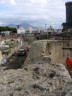 Napoli. Le preesistenze della cittadella nei lavori odierni della Metropolitana (foto dell'a.2008).