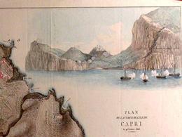 Capri. Prospetto dell'isola da nord in un disegno del primo ottocento (da T. Colletta, Capri, Atlante storico …, 1990).