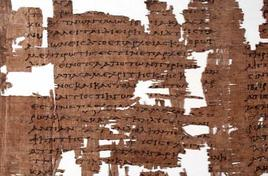 Particolare del papiro di Artemidoro. Fonte: Wikipedia