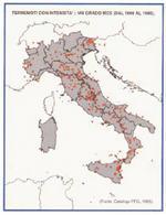 Terremoti con intensità > VIII grado MCS (dal 1000 al 1980)