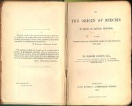 The Origin of Species, edizione 1859. Fonte: Wikipedia
