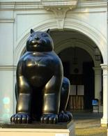 Il gatto di Fernando Botero, The Art Museum, Singapore. Fonte: Flickr