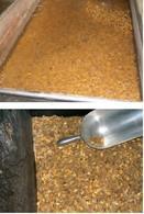Tipologie di alimenti fibrosi: granella, trinciato e granella. Fonte: 30giorni il mensile del medico veterinario