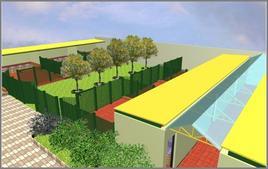 Panoramica dei box e del corridoio di servizio (progetto curato dal Dr. Giampaolo Crispino)