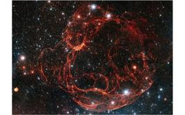The filaments of faint supernova remnant Simeis 147. Credit: Sky Factoring