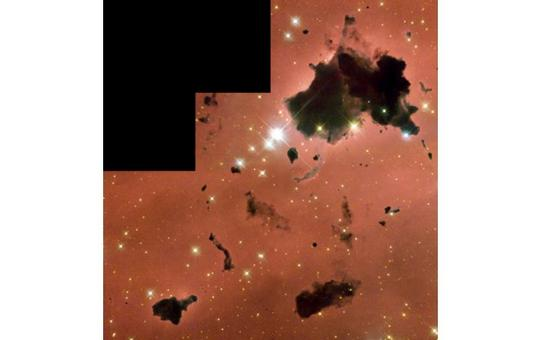 Bok globules in the HII region IC2944. Image taken with the WFPC2, HST. Credit: NASA.