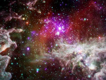Massive stars in the HII region NGC 281 heat the surrounding ISM. Credit: NASA.