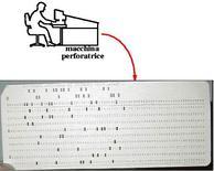 Schede perforate e relativo lettore
