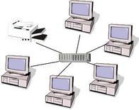 Esempio di una piccola LAN:5 calcolatori collegati tra loro che condividono una stampante.