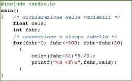 Conversione Fahr / Celsius.