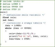 Conversione Fahr / Celsius versione 3.