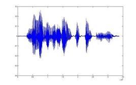 Forma d'onda di un segnale vocale.