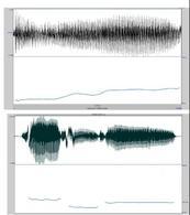 L'andamento della frequenza fondamentale in due segnali: 1) una vocale cantata, 2) uno in cui si alternano parti non periodiche e parti periodiche