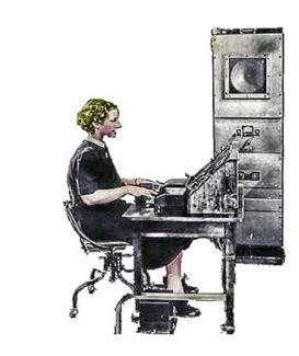 Il voder, uno strumento realizzato presso i Bell Laboratories nel 1939. Puoi vederlo all'opera su YouTube.