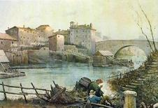 Ettore Roesler Franz, l'Isola Tiberina e Ponte Cestio