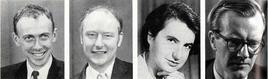 J. Watson, F. Crick, M. Wilkins e R. Franklin