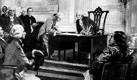 La firma della costituzione. Fonte: Cyber Bee