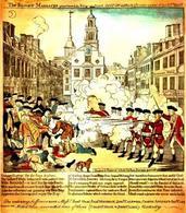 Il Massacro di Boston avvenuto il 5 marzo 1770. Fonte: Psu