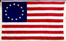 La bandiera delle tredici colonie. Fonte: Shepherd