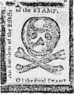 La reazione dei giornali allo Stamp Act. Fonte: Wikipedia