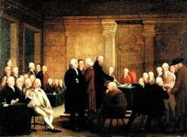 Il Congresso Continentale. Fonte: Wikipedia