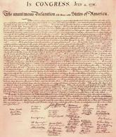 La Dichiarazione d'Indipendenza. Fonte: Sonofthesouth