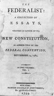 The Federalist Papers. Fonte: Primary Documents in American History