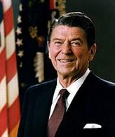 Ronald Reagan. Fonte: Wikipedia