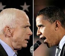I due candidati alle elezioni presidenziali 2008. Fonte: Eev.liu.edu