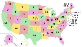 Mappa dei voti elettorali