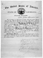Certificato elettorale per lo Stato della Louisiana